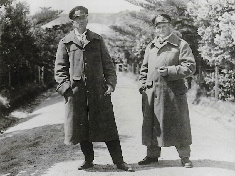 on Luckner and Kircheiss on Motuihe 1917. Image courtesy of the Riethmaier Collection