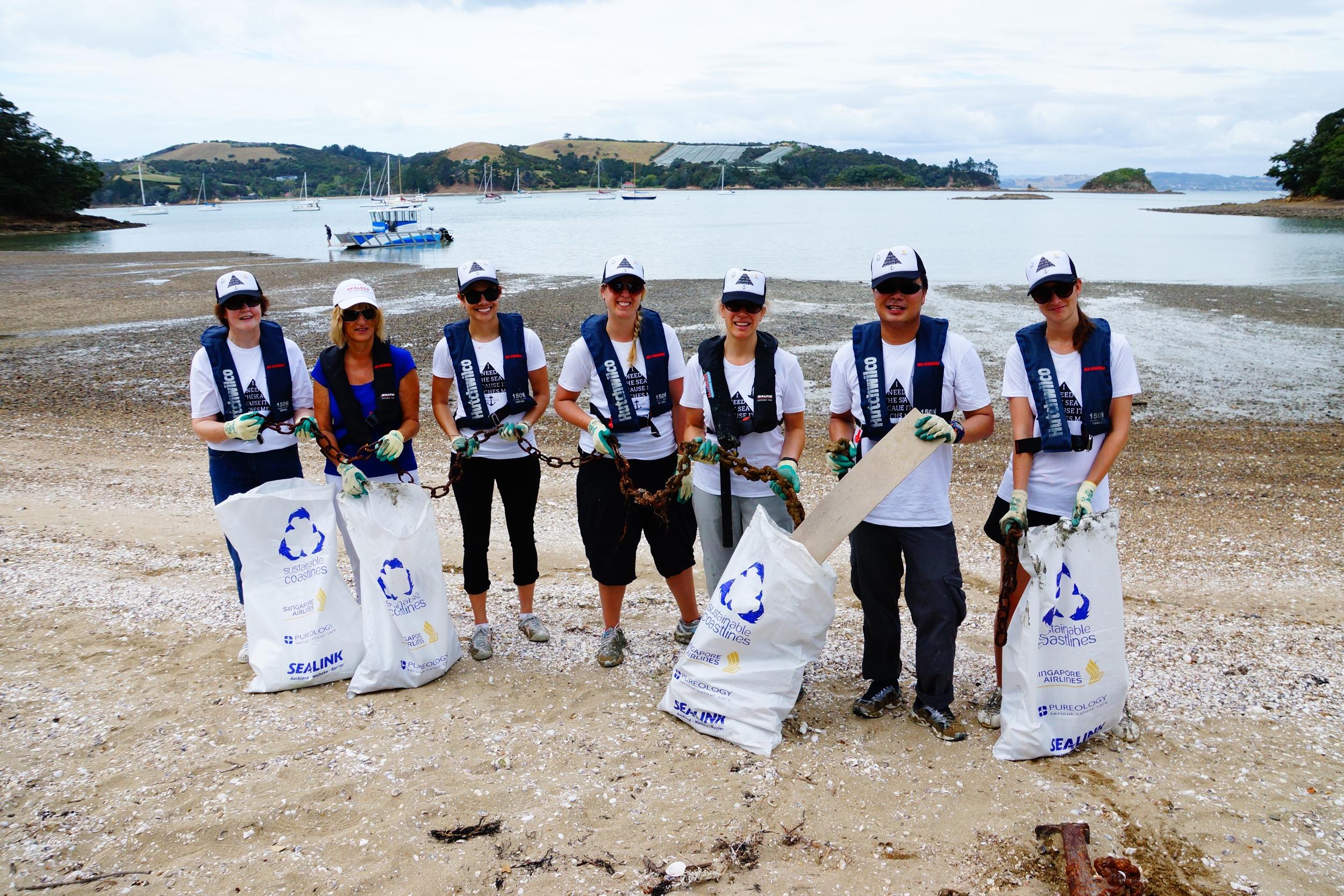 Waiheke rubbish crew