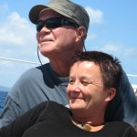 Jo Ritchie and Chris Roberts in the Hauraki Gulf