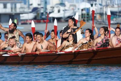 Polynesian waka arrival in Auckland