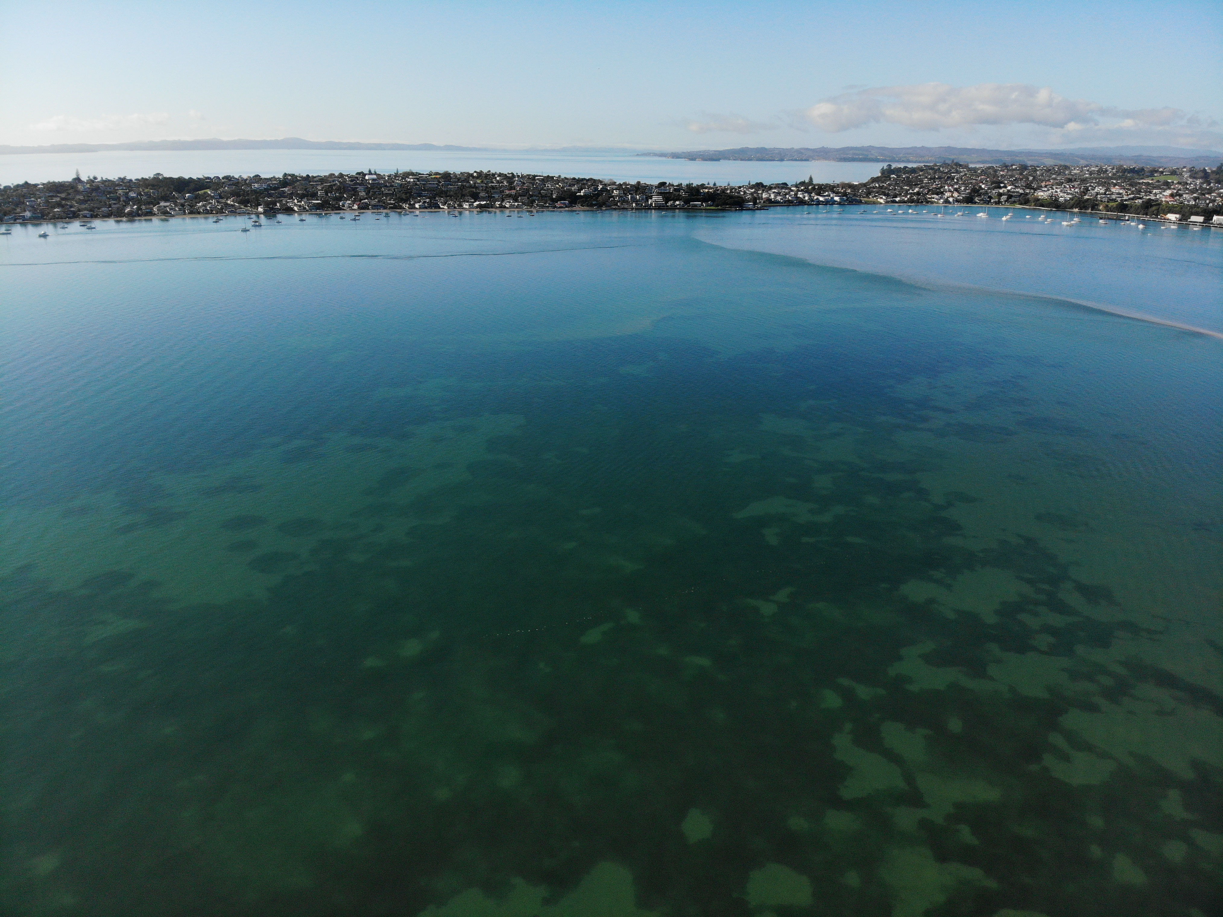 Drone shot over Tahuna Torea by Gray Milmine